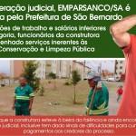 Em recuperação judicial, EMPARSANCO/SA é contratada pela Prefeitura de São Bernardo do Campo