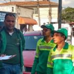 Nas ruas de São Paulo os varredores recebem o apoio do Siemaco