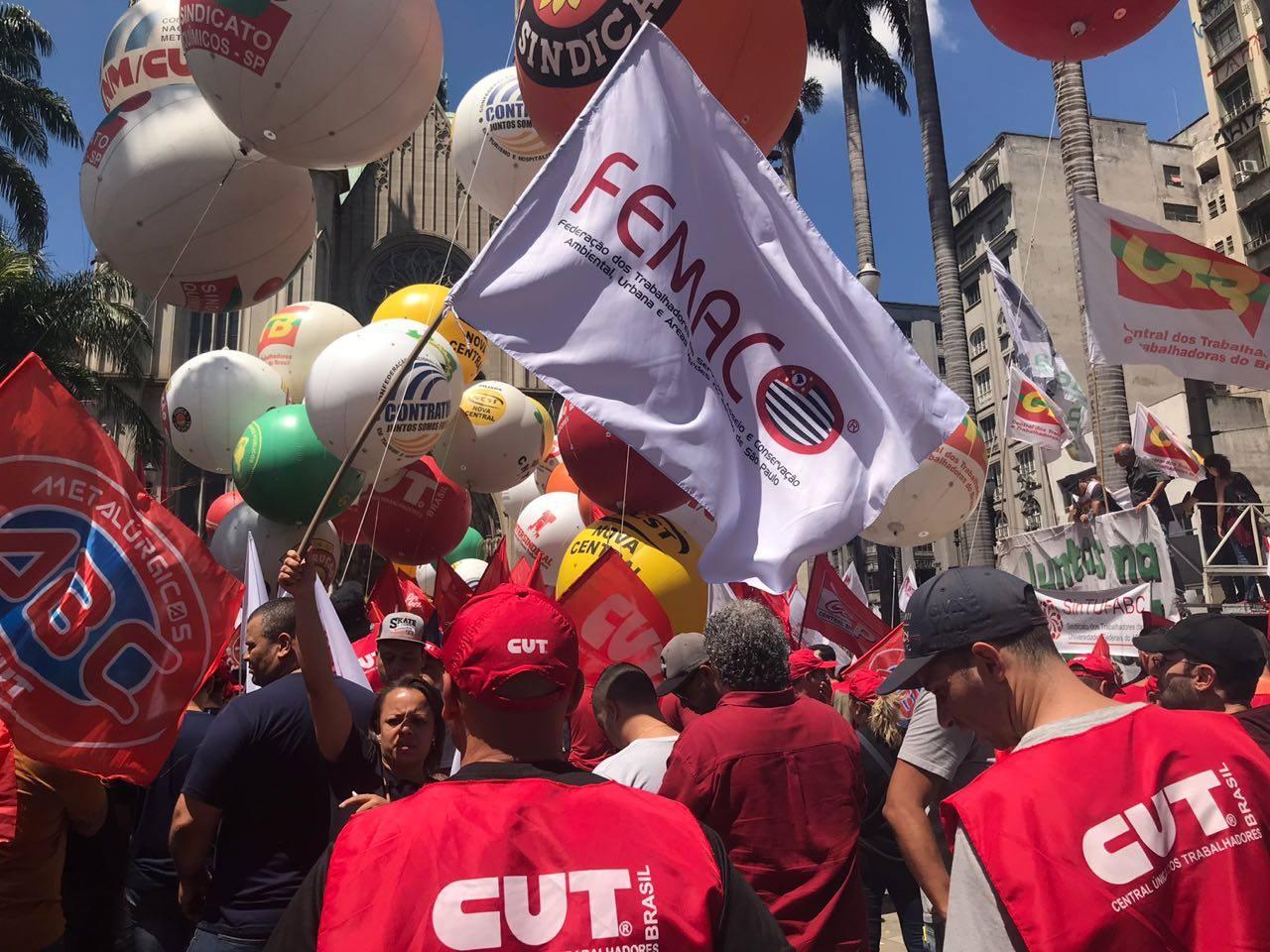 """Femaco particia do """"Acorda! Dia de Mobilização Nacional"""" em São Paulo"""