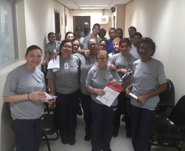 Siemaco SP leva informação para trabalhadores da limpeza no Fórum Pedro Lessa
