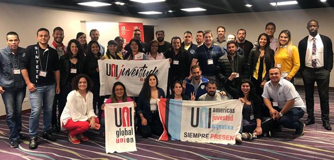 Exemplo de organização do SIEMACO-SP inspira jovens sindicalistas em encontro da UNI Américas, na Colômbia