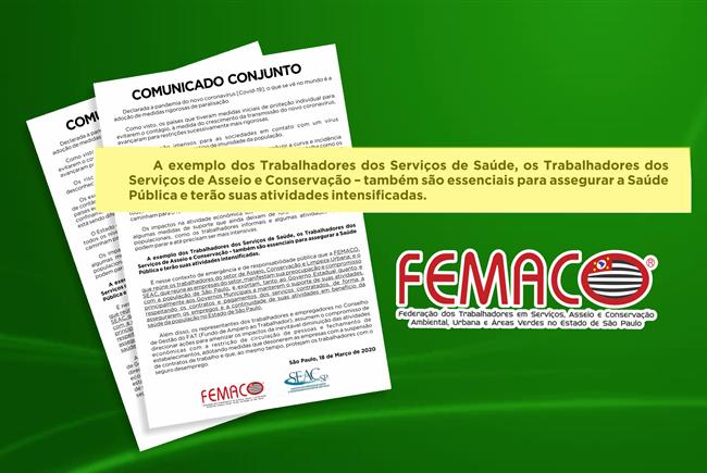 CORONAVÍRUS: FEMACO busca soluções para proteger o emprego dos trabalhadores