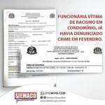 Siemaco Guarulhos divulga informações sobre funcionária vítima de racismo em condominio