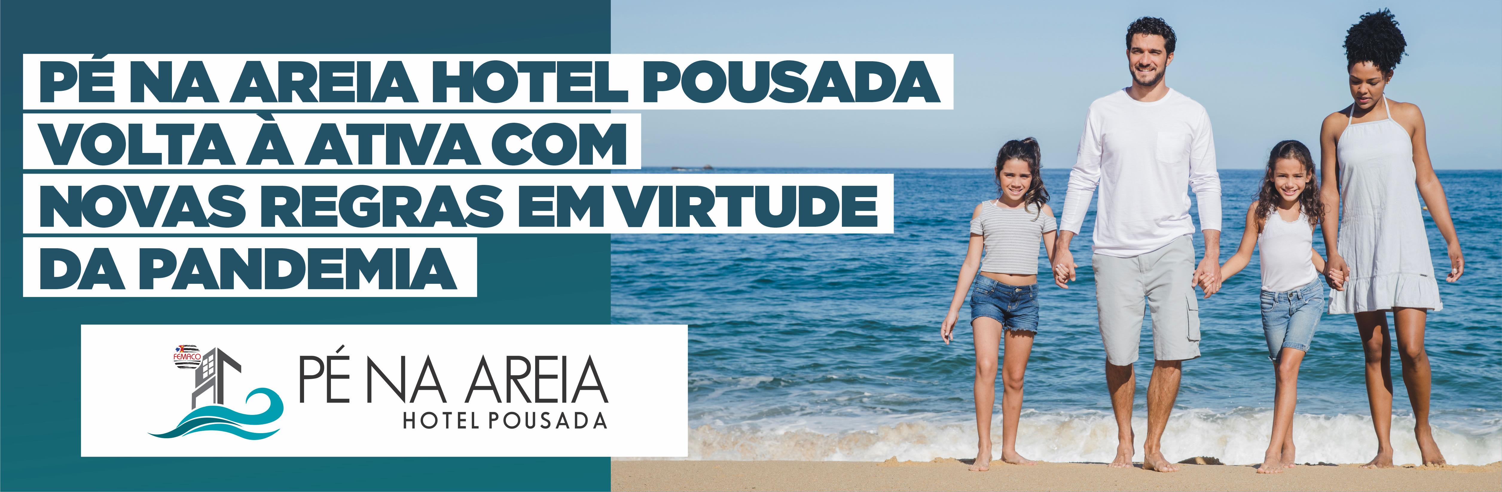 Banner Pé Na Areia – Aviso