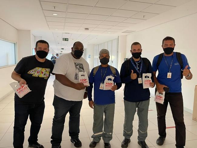 Sinteata SP continua distribuindo kits de higiene aos trabalhadores nos Aeroportos