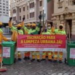 Vacina Já! Siemaco Ribeirão Preto mobiliza trabalhadores, exigindo que a categoria da Limpeza Urbana seja vacinada