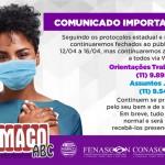 Siemaco ABC permanece com os atendimentos on-line até o dia 16 de abril