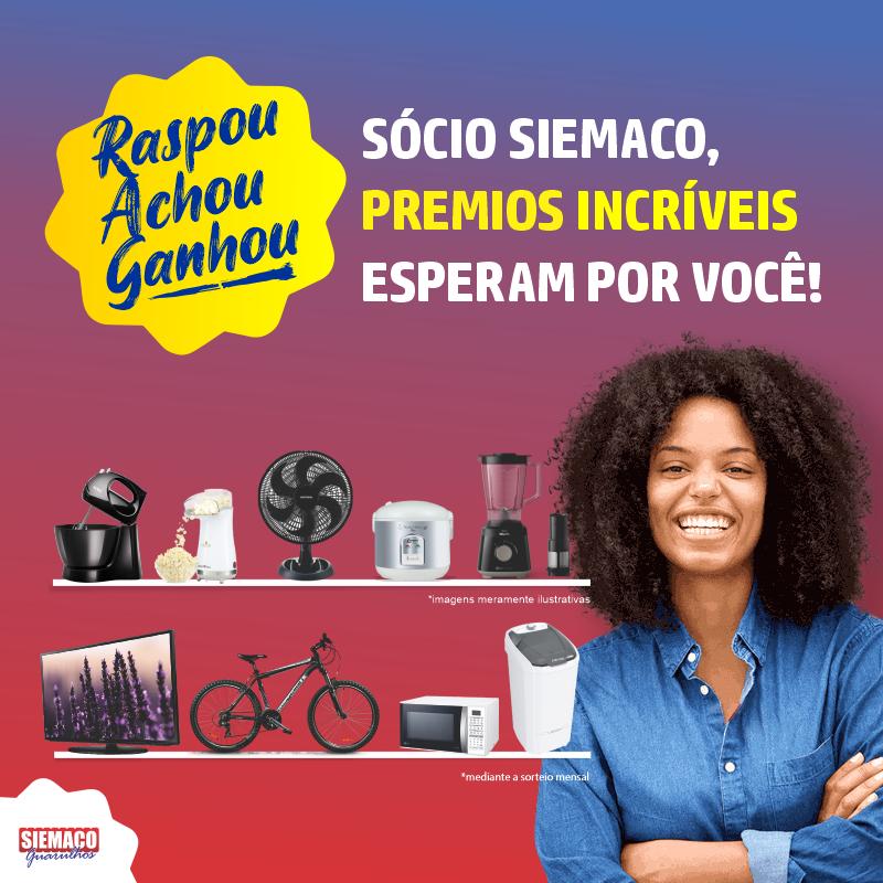 'Sócio Premiado' do Siemaco Guarulhos, garantirá diversos prêmios aos associados